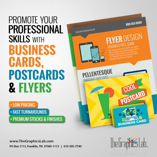 Printing: Business Cards, Postcards & Flyers